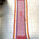 free shipping~silver thread & cotton~old kain sunkit ritual blanket cloth fabric