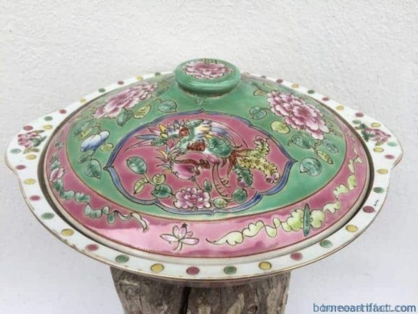 nyonya nonya soup bowl chinese wedding ware / food serving jar
