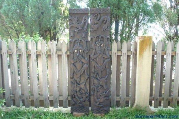 GIANT SPIRIT 78×29 NATIVE PANEL (1 PAIR) Wall Door Statue Figure Painting Panel