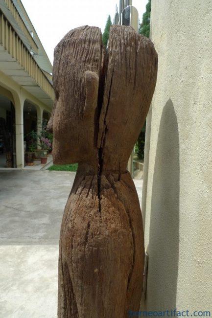 DAYAK KALTENG 1420mm 85lb GIANT STATUE Eroded Outdoor Figure Sculpture Indonesia