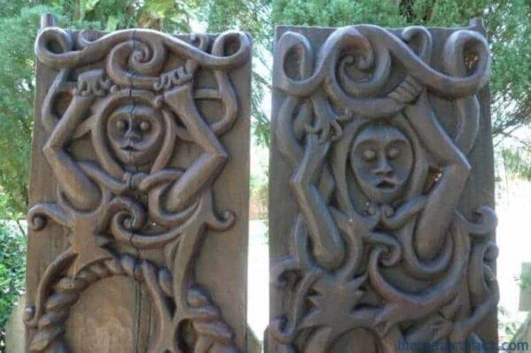 TRIBAL PANEL (1 PAIR) DAYAK ASIA Home Garden Wall Sculpture Painting Art Door
