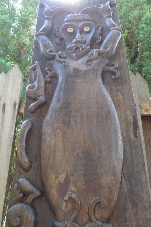 spiritual being 77×19.9 tribal panel wall door statue figure painting sculpture