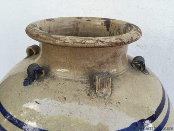 XXXL WHITE GLAZED 830mm/32.7 BLUE NAGA JAR Vase Pot Pottery Porcelain Antique