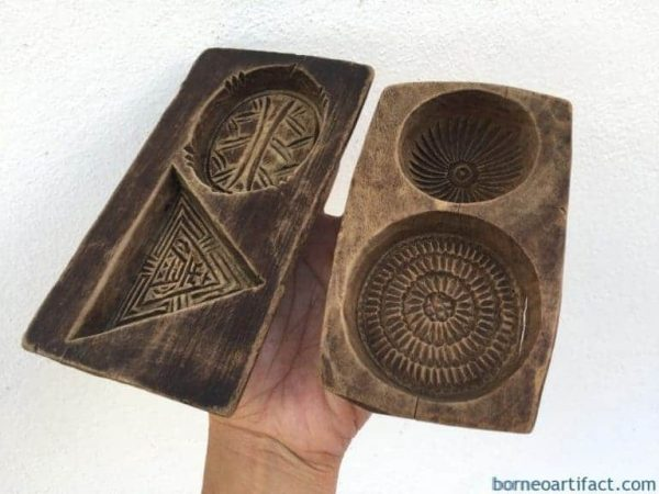 #3 CHINESE CAKE MOLD ANTIQUE Biscuit Maker South Asia Food CAST FRAME STAMP CHOP