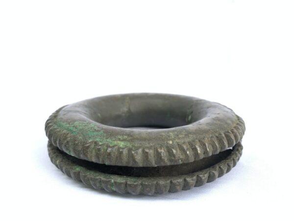 #2 SOLID BRONZE BRACELET Authentic Antique Dayak Girl Jewelry Bangle Ornament
