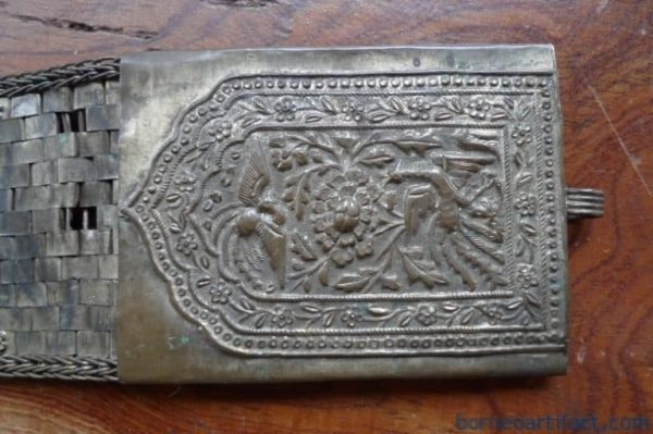 PHOENIX & DRAGON KOI FISH 340g BRONZE / BRASS BELT Authentic Artifact Jewelry