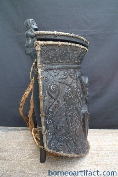 GIANT DAYAK 440mm CARRIER CONTAINER Backpack Dyak Headhunter Statue Sculpture