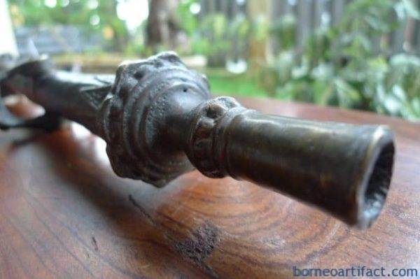 ANTIQUE 400mm LANTAKA CANNON Signal Wealth/Status Heirloom Brass Bronze Artifact