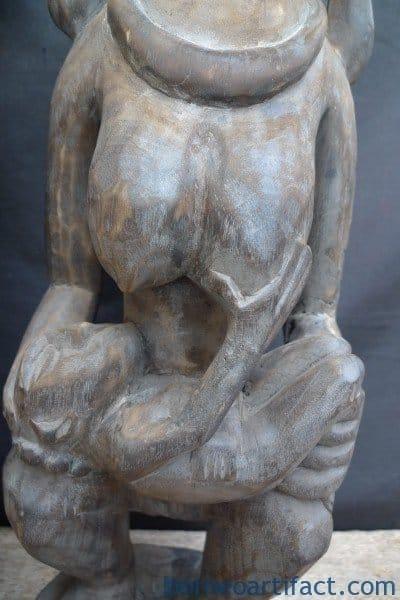 ONE PAIR NIAS WARRIOR Panglima Statue Sculpture Image Icon Figure Home & Garden