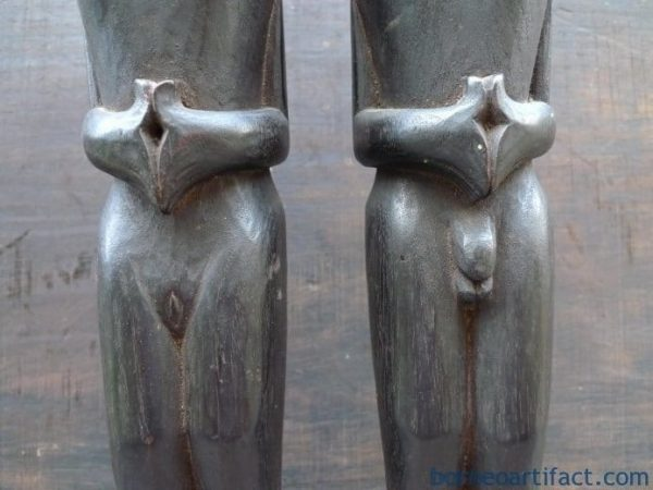 1 PAIR OLD BATAK FETILITY STATUE Ancestral Couple Facial Image Icon Indonesia