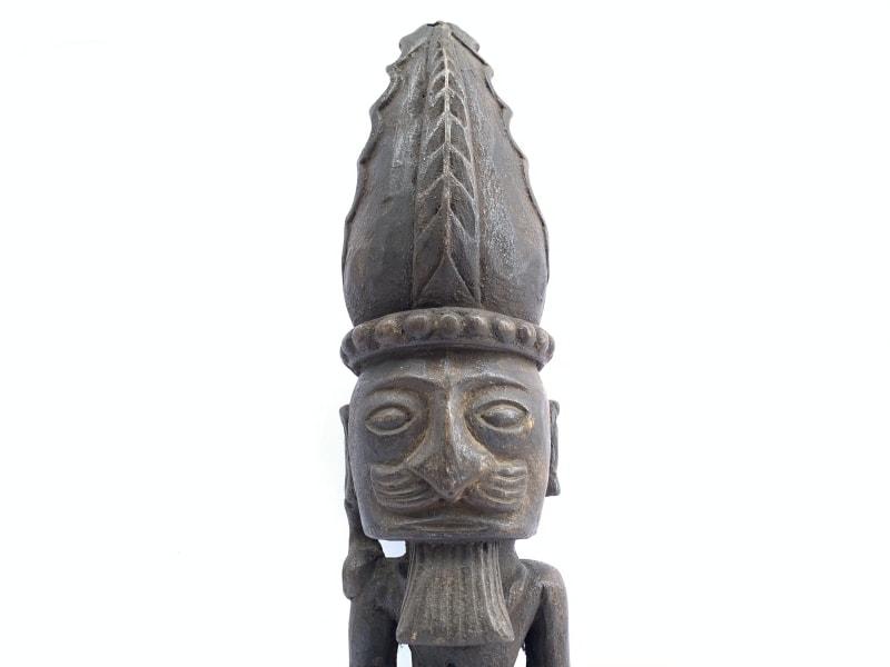 520mm PATUNG PANGLIMA NIAS STATUE Naked Penis Fertility Warrior Sculpture Figure
