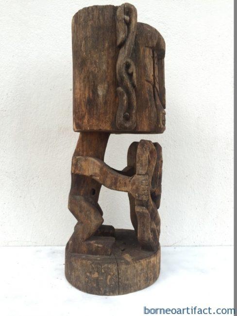 OLD AGED 520mm KORWAR STATUE Cenderawasih Oceanic Art Sculpture Image Artifact
