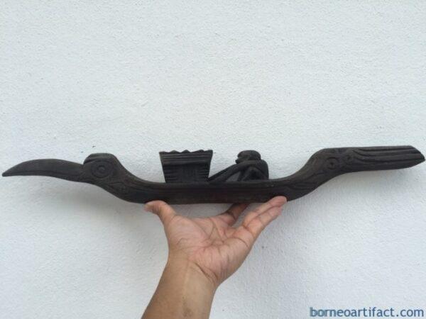 #1 IRONWOOD BOAT 570mm Native Vessel Primitive Figure Dayak Statue Sculpture