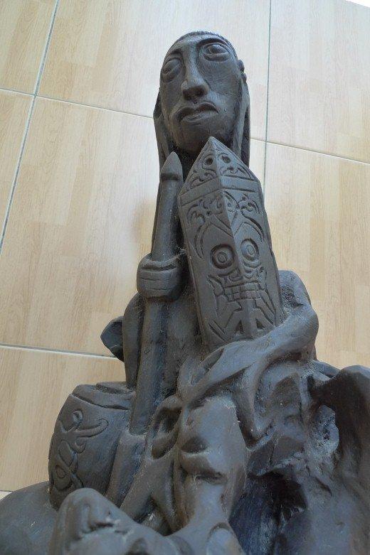 xxxxl 530mm abstract dayak sculpture old statue primitive wooden figure borneo