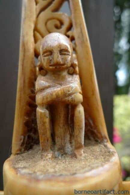TANIMBAR RAJA LETI 310mm AUTHENTIC OLD ~BONE ALTAR~ Sculpture Statue Indonesia