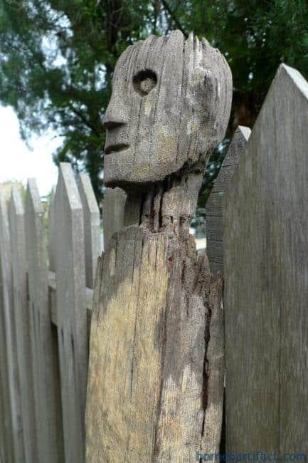 ERODED GUARDIAN 1190mm DAYAK STATUE Patung Kebahan Primitive Figure Sculpture