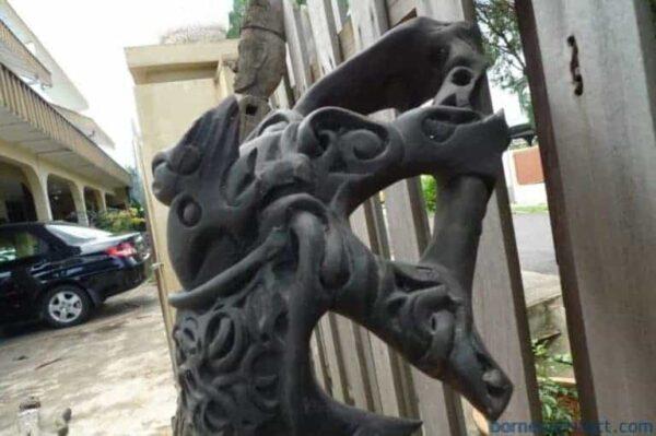 FEMALE VERSION XL 660mm ABSTRACT DAYAK SCULPTURE Old Statue Wooden Figure Borneo