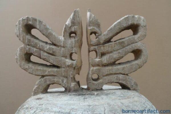 OLD ASIAN STATUE 28.7 XL KORWAR FIGURE Indonesia Oceanic Art Sculpture Artifact