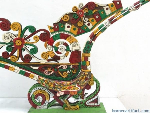 MASSIVE 1.25meter SACRED HORNBILL BIRD Kenyalang Sculpture Figure Statue Animal