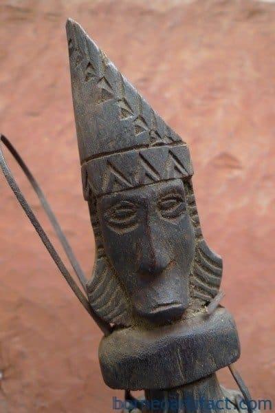RARE PUMPKIN FRUIT Artefact Toraja Bottle Ancestral Figure Statue Image Sulawesi