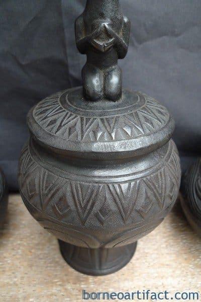 THREE MEDICINE CHAMBER Batak Simalungun Container Box Bottle Statue Sculpture