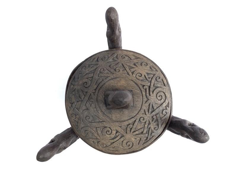 3.) ONE PAIR DAYAK CHAMBER 310mm LUPONG DAYAK Medicine Box Statue Asia Artifact