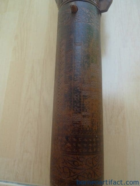 OLD BAMBOO BATAK Giant 470mm WATER BOTTLE Statue Box Jewelry Medicine Container