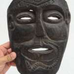 TUKUDEDE Timor-Leste 9.8 TRIBAL MASK Facial Artifact Native Artefact IRONWOOD