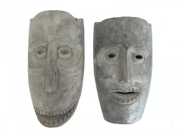 MASK OF ASIA 280x150mm ONE PAIR Topeng Wall Art Decoration Face Statue Painting
