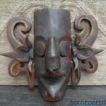 TRIBAL MASK Dayak Borneo Facial Face Wall Deco Home Bar Sculpture Statue Figure