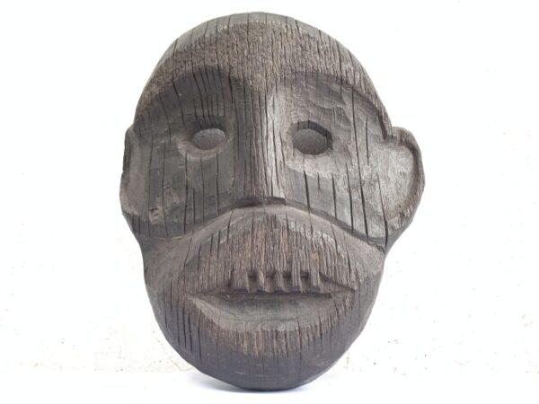 IRONWOOD DAYAK AHE 290mm MASK Borneo Facial Face Dyak Native Tribal Artefact