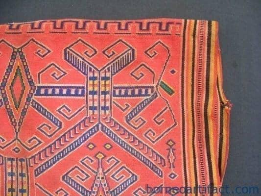 AUTHENTIC Dayak WARRIOR JACKET SHIRT Headhunting Asia Male Shirt Attire Fabric