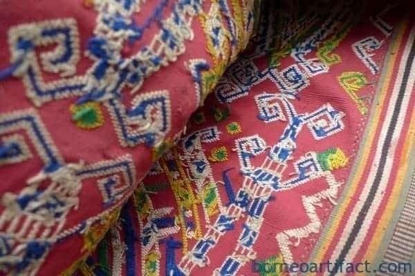COLORFUL SCORPION Sungkit Dress ANTIQUE Dayak SKIRT SARONG LADIES GARMENT #175