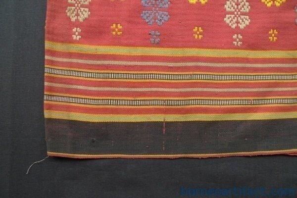 ROSETTE SPRAYS ANTIQUE SKIRT Dayak Ikat Sungkit Dress SARONG LADIES GARMENT #259