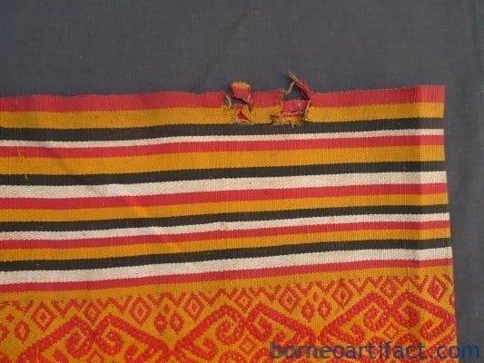 ANTIQUE SKIRT SUNGKIT DAYAK Confronting Scorpion SARONG HANDMADE OLD DRESS #267