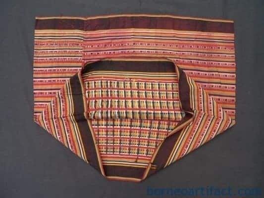 THE COLORS OF HORNBILL BIDANG SKIRT Dress Sarong Tribal Ladies Lady Borneo #276
