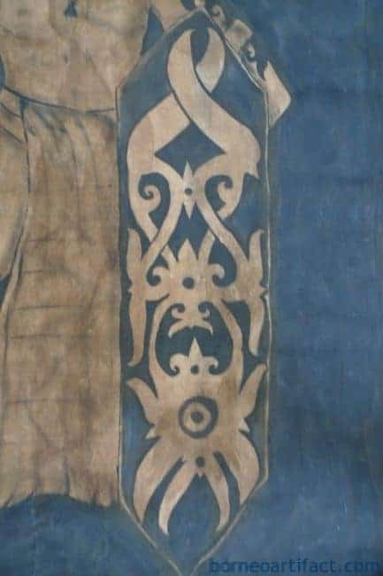 #2 OIL PAINTING: DAYAK HUNTER FIGURE Sculpture Drawing On Canvas Borneo Tribe