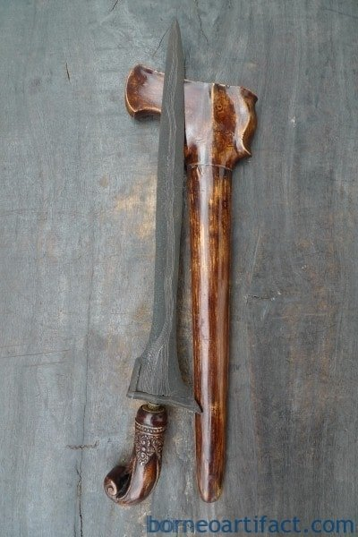RARE KERIS JANUR SINEBIT Knife Arms Weapon Sword Kriss Kris Dagger Samurai Asia