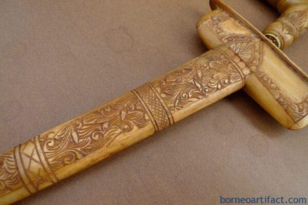 KERIS TULANG / COW BONE 480mm WEAPON Malay Silat Knife Sword Kris Dagger Blade