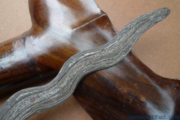 KERIS NAGA NOGO 520mm SUMATRA Weapon Knife Blade Dagger Sword Kris Kriss Borneo