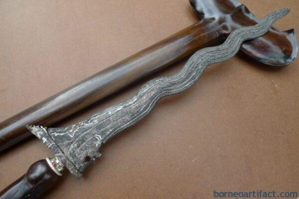 DRAGON KERIS 520mm NAGA WEAPON Knife Blade Dagger Sword Kris Kriss Melayu Borneo
