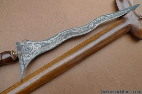 BATU LAPAK 520mm ROYAL PAMOR KERIS Weapon Knife Blade Dagger Sword Kris Kriss