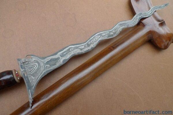 BEAUTIFUL BLADE BATU LAPAK 520mm KERIS Weapon Knife Dagger Sword Kris Kriss Arms