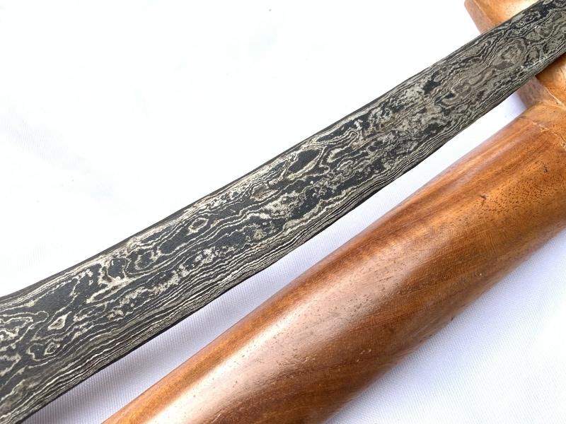 STRAIGHT BLADE 440mm PALEMBANG KERIS Weapon Kris Knife Dagger Sword Kriss Arms