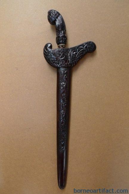 E.) KRIS Gabilan Madura 11 Luk BLACK MAGIC (Pamor ADEQ) Knife Weapon Sword Keris