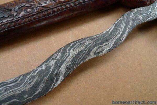 H.) EERIE KRIS BUNTEL MAYIT / CORPSE 9 Luk KERIS Madura Knife Sword Dagger Blade