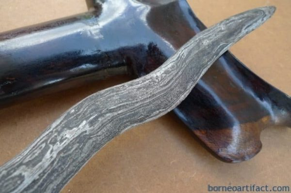 WATERMELON SKIN 19.3 EXCELLENT KERIS Kriss Weapon Knife Blade Dagger Sword Kris