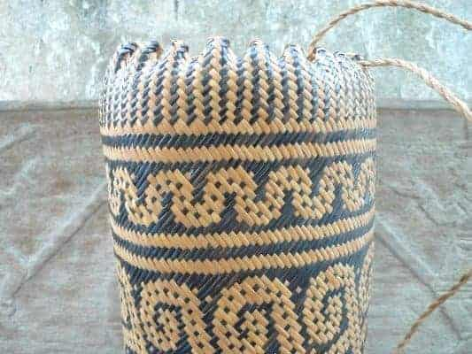 TRADITIONAL AJAT SLING BAG Native Dayak Backpack Durable Daily Use Handbag #5