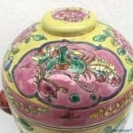 GINSENG SOUP COVERED BOWL Peonies & Phoenix Porcelain Box Nyonya Baba Kitchen