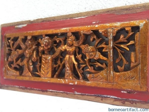 #4 ANTIQUE PROSPEROUS PANEL Wedding Gift Old Chinese Dynasty Statue China Figure